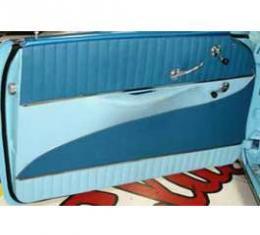Chevy Preassembled Door Panels, With Armrests Installed, Bel Air 2-Door Hardtop, 1956