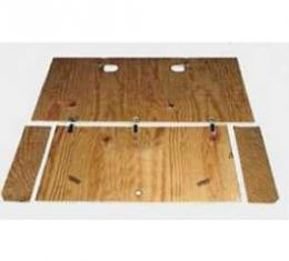 Chevy Cargo Area Plywood Set, With Clips, Wagon, Nomad, 1955-1957