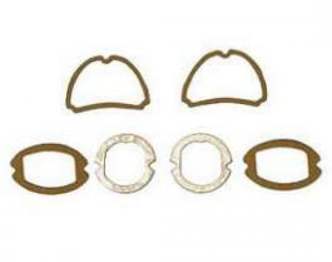 Chevy Parking Light, Taillight & Back-Up Light Lens Gasket Set, 1957