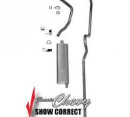 Classic Chevy Exhaust System, Original Style, Single Outlet