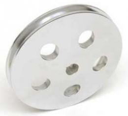Chevy Power Steering Pump Pulley, Chrome, 1955-1957