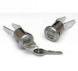 Chevy Door Locks, With Original Style Keys,1955 2-Door Hardtop & Convertible & 1956-1957 2 & 4-Door Sedan