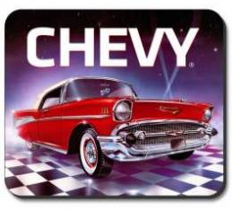 Chevrolet Mouse Pad, Red, 1957