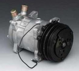Chevy V-Belt Air Conditioning Compressor, Sanden, Unpolished, 1955-1957