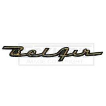 Chevy Dash Script Emblem, Bel Air, 1957