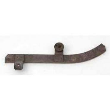 Chevy Short Curved Quarter Window Track, Right, Used, 2-Door Hardtop, 1955-1957