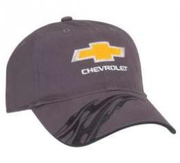 Chevy Cap, Charcoal, With Flames