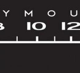 RetroSound Plymouth Logo Screen Protector for Standard Radios, Pkg of 3