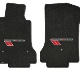 Corvette Mats, Grand Sport Ebony with Red-Black, 2010-2011