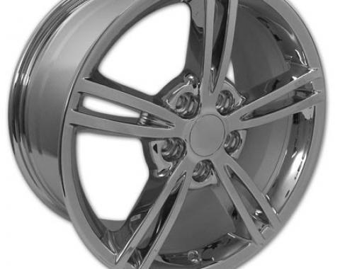 "Corvette Wheel, C6 2008 Style Chrome 18"" x 8.5"", 1997-2004"
