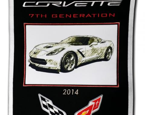 Genuine Wool Blend Banner with C7 Emblem and Image
