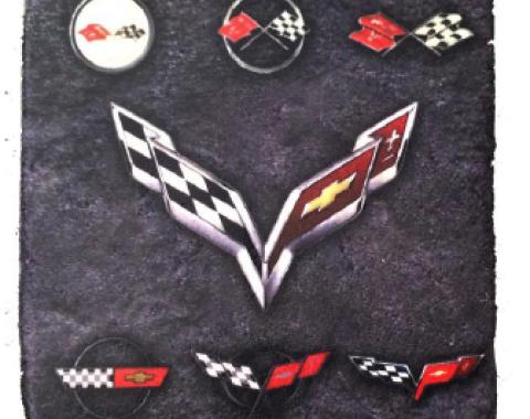 Corvette Generation Stone Tile Coaster, Dark Stone
