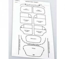 Chevy Water Leak Test Sheet, 1952-1954