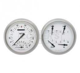 Early Chevy Classic Instruments White Hot Series SpeedTachular Analog Gauge Kit, Five Inch, White Face With Black Pointers, 1951-1952