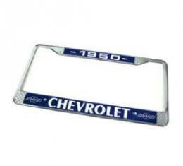 Chevy License Plate Frame, With Chevy Logo, 1950