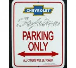 Chevy Styleline Parking Only Sign, 1949-1952
