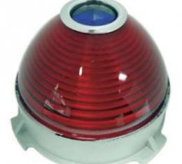 Chevy Center Taillight Lens, With Blue Dot, 1953