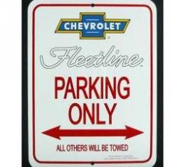 Chevy Fleetline Parking Only Sign, 1949-1952