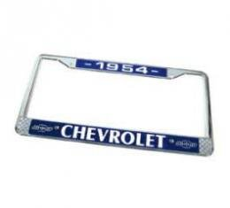 Chevy License Plate Frame, With Chevy Logo, 1954