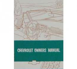 Chevy Owner's Manual, Passenger Car, 1954
