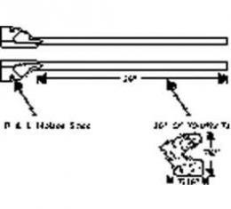 Chevy Weatherstripping, Door Bottom & Corners, 1949-1952