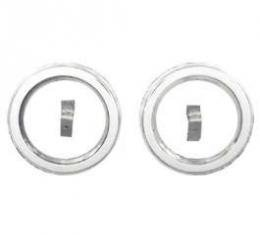 Chevy Aluminum Dash Gauge Inserts, 3-3/8 Quads, For Autometer, Classic Instruments Or Dolphin Gauges, 1951-1952