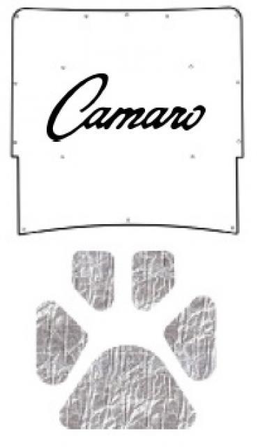 Camaro Under Hood Cover, Quietride AcoustiHOOD, 3-D Molded, With Logo, 1967 | Camaro Script (G-022)