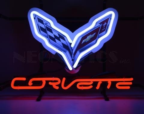 Neonetics Junior Size Neon Signs, Corvette C7 Junior Neon Sign