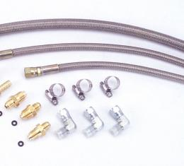Flaming River FR1610, Power Steering Hose, GM-Style, Pressure Hose and Return Hose, Stainless Steel
