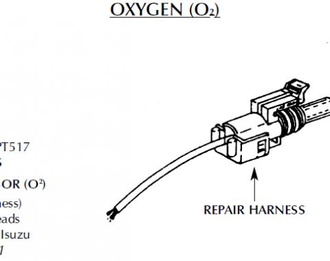 Corvette Repair Harness, Oxygen Sensor, 1992-1995
