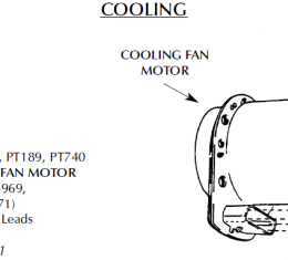 Corvette Repair Harness, Cooling Fan Motor, 1984-1996