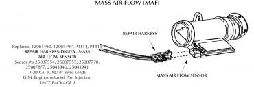 Corvette Repair Harness, Mass Air Flow Sensor, 1990-1996
