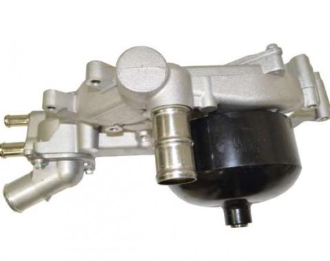 Corvette Water Pump with Thermostat & Housing, AC Delco, 1997-2004
