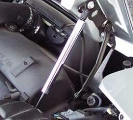 Corvette Hood Support Strut Covers, Chrome, 1997-2004