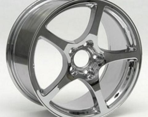 "Corvette Wheel, 17"" x 8.5"", Front, Chrome, C5, 2000-2004"