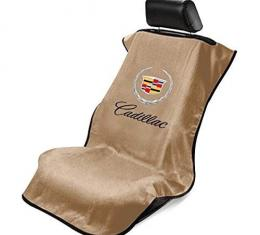 Seat Armour Cadillac Seat Towel, Tan with Script SA100CADT