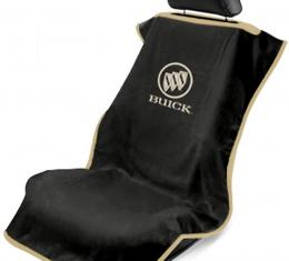 Seat Armour Buick Seat Towel, Black with Script SA100BCKB