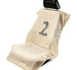 Seat Armour Mustang Cobra Seat Towel, Tan with Script SA100COBT