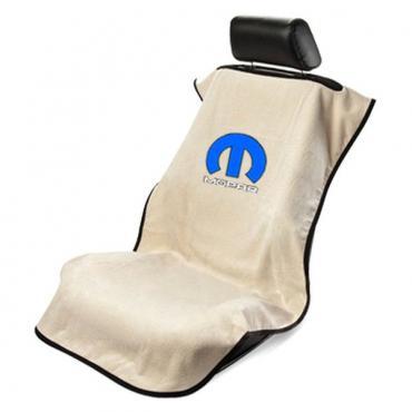 Seat Armour Mopar, Seat Towel, Tan  with Logo SA100MOPT
