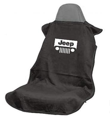 Seat Armour Jeep with Grille, Seat Towel, Black with Logo SA100JEPGB