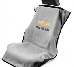 Seat Armour Chevrolet Seat Towel, Grey with Script SA100CHVG