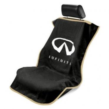Seat Armour Infiniti Seat Towel, Black with Logo SA100INFB