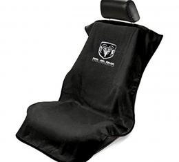 Seat Armour New Dodge Ram, Seat Towel, Black with Logo SA100NRAMB