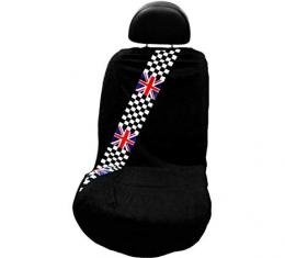 Seat Armour Checkered British Flag, Seat Towel, Black, SA100MINCHCK