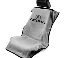 Seat Armour Acura Seat Towel, Grey with Script SA100ACUG