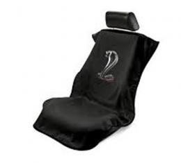 Seat Armour Mustang Cobra Seat Towel, Black with Script SA100COBB