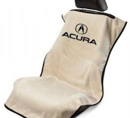 Seat Armour Acura Seat Towel, Tan with Script SA100ACUT
