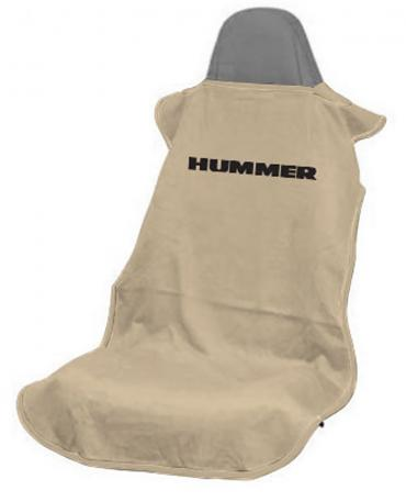 Seat Armour Hummer Seat Towel, Tan with Logo SA100HUMT
