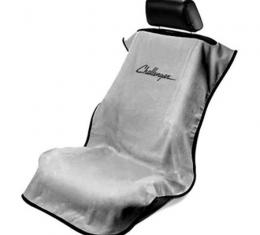Seat Armour Challenger Seat Towel, Grey with Script SA100CHLG