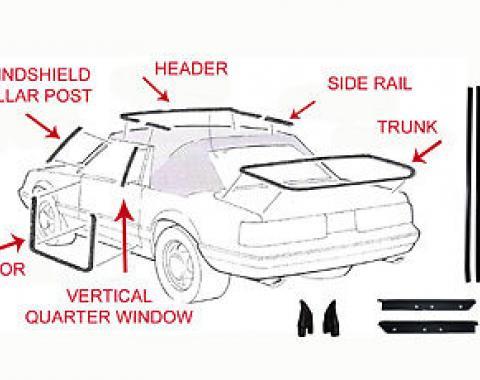 Mustang Weatherstrip Kit, Convertible, 17 Piece, 1987